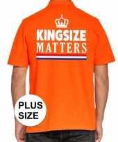 Grote maten kingsize matters polo oranje heren t-shirt