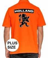 Grote maten koningsdag polo holland leeuw oranje heren t shirt