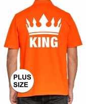 Grote maten koningsdag polo king oranje heren t shirt