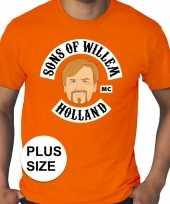 Grote maten sons of willem oranje heren t-shirt