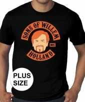 Grote maten sons of willem zwar heren t-shirt