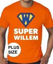 Grote maten super willem oranje heren t-shirt