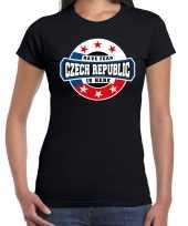 Have fear czech republic is here tsjechie supporter zwart dames t shirt