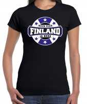 Have fear finland is here finland supporter zwart dames t shirt
