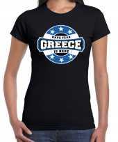 Have fear greece is here griekenland supporter zwart dames t shirt