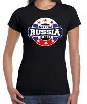 Have fear russia is here rusland supporter zwart dames t shirt
