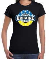 Have fear ukraine is here oekraine supporter zwart dames t shirt