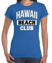 Hawaii beach club zomer blauw dames t-shirt