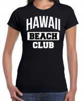 Hawaii beach club zomer zwart dames t-shirt