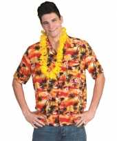 Hawaii rood oranje t-shirt