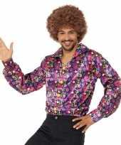 Hippie peace overhemd heren t shirt