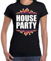 House party fun tekst zwart dames t-shirt