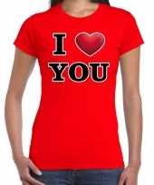I love you valentijn rood dames t-shirt