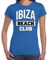 Ibiza beach club zomer blauw dames t-shirt