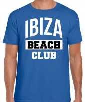 Ibiza beach club zomer blauw heren t-shirt