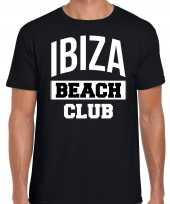 Ibiza beach club zomer zwart heren t-shirt