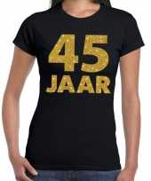 Jaar goud glitter verjaardag jubileum kado zwart dames t-shirt 10154888