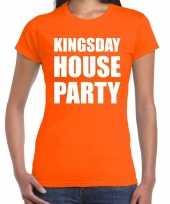 Koningsdag kingsday house party oranje dames t shirt