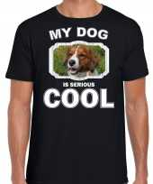 Kooiker honden my dog is serious cool zwart heren t shirt
