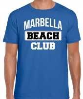 Marbella beach club zomer blauw heren t-shirt