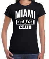 Miami beach club zomer zwart dames t-shirt