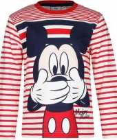 Mickey mouse rood wit jongens t-shirt