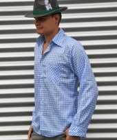 Oktoberfest tiroler blouse blauw heren t-shirt