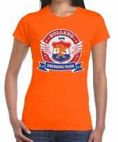 Oranje holland drinking team dames t shirt