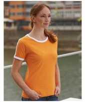 Oranje wit dames t-shirt