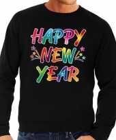 Oud nieuw trui sweater happy new year zwart heren t shirt