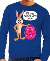 Paas sweater ei will always love you blauw heren t-shirt
