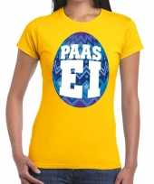 Paasei geel blauw ei dames t-shirt