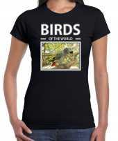 Papegaaien dieren foto birds of the world zwart dames t shirt 10264440
