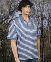 Polo bretonse streep blauw t-shirt