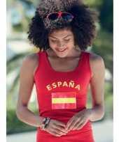 Rode dames tanktop spanje t-shirt