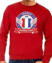 Rood france drinking team sweater heren t-shirt