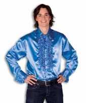 Rouche overhemd heren blauw t-shirt
