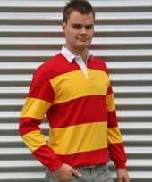 Rugby spain rood geel t shirt
