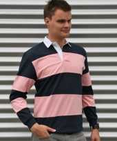 Rugbys navy roze t-shirt