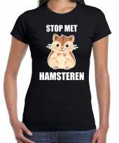 Stop hamsteren zwart dames t-shirt