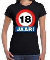 Stopbord jaar verjaardag zwart dames t-shirt 10218343