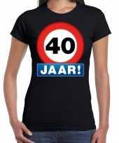 Stopbord jaar verjaardag zwart dames t-shirt 10218350