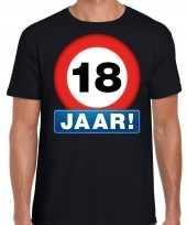 Stopbord jaar verjaardag zwart heren t-shirt 10218326