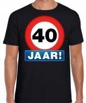 Stopbord jaar verjaardag zwart heren t-shirt 10218335