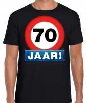 Stopbord jaar verjaardag zwart heren t-shirt 10218339