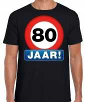 Stopbord jaar verjaardag zwart heren t-shirt 10218340