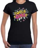 Super oma cadeau zwart dames t-shirt 10191349