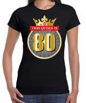 This queen is verjaardag zwart jaar dames t-shirt 10287360