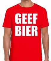 Toppers geef bier heren rood t-shirt