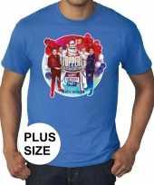Toppers grote maten blauw toppers concert officieel heren t-shirt